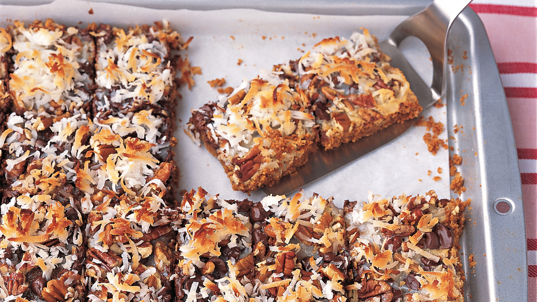 Chocolate-Coconut Bars Recipe & Video | Martha Stewart