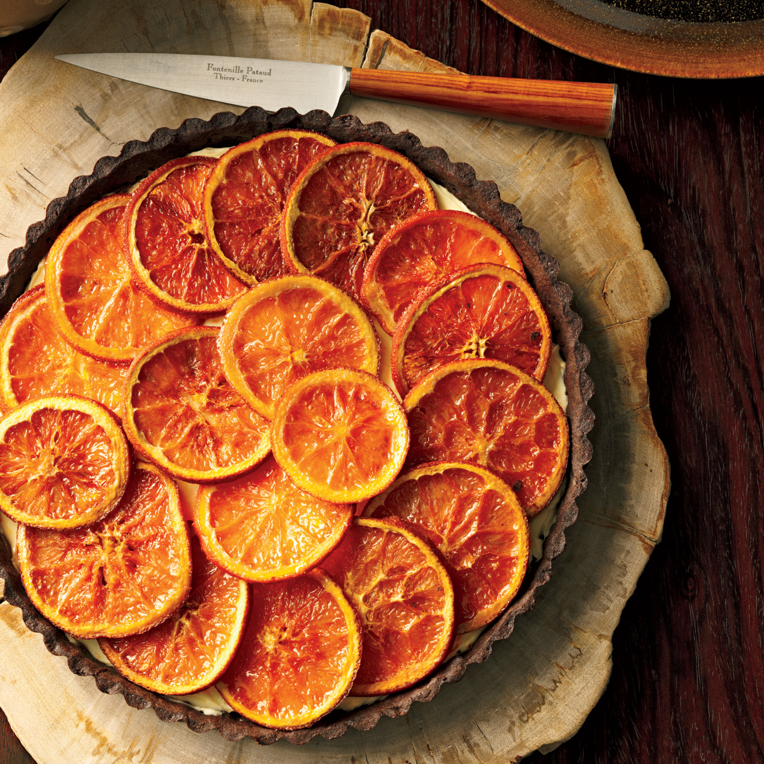 Chocolate Roasted Orange Tart