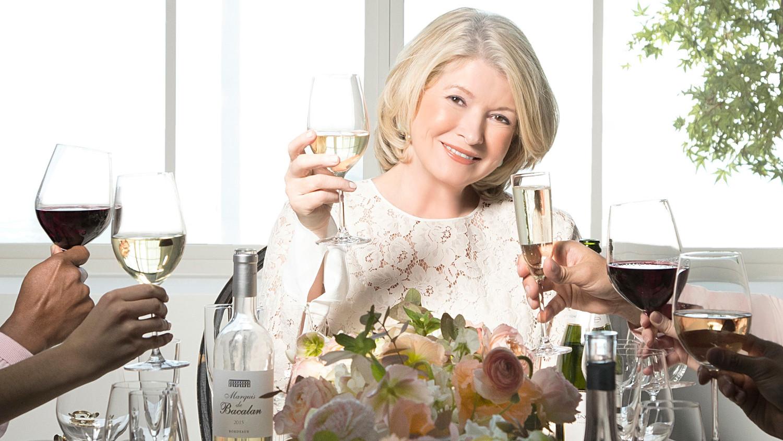 Raise a glass to the new martha stewart wine co martha for Martha stewart christmas wine glasses