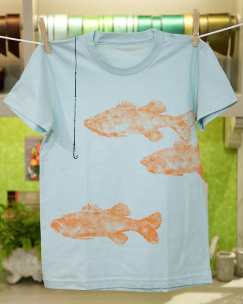Fish print t shirt video martha stewart for Fish print shirt