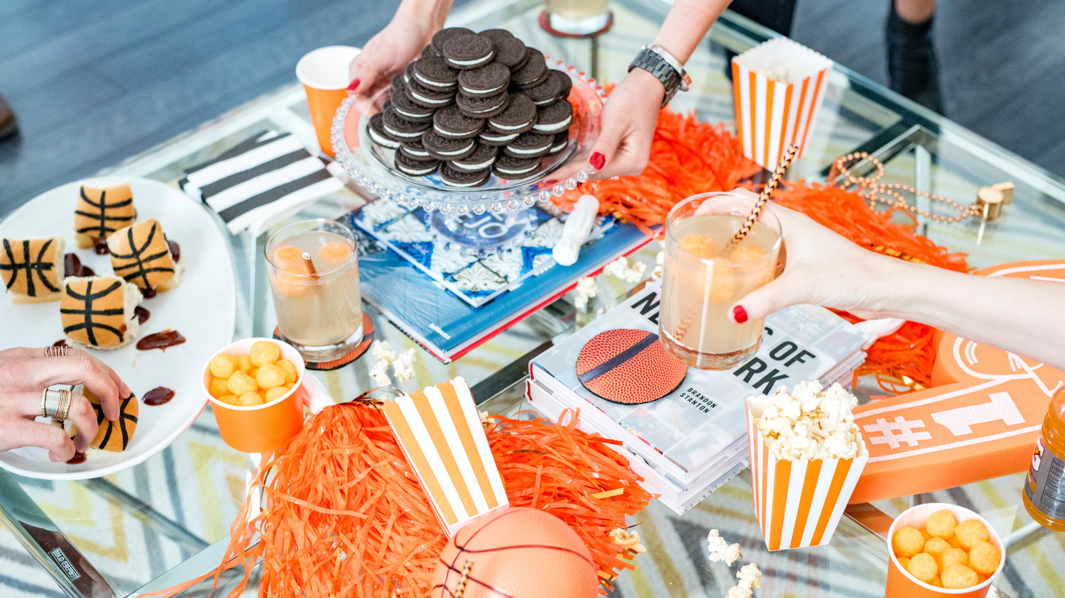 march madness party coffee table
