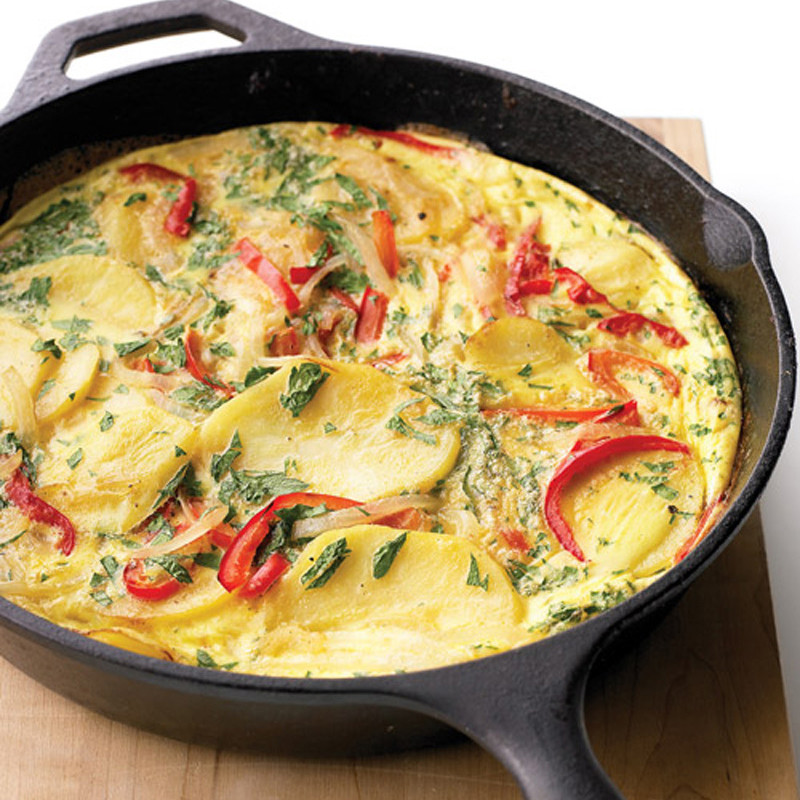 Spanish Tortilla With Bell Pepper Recipe Martha Stewart