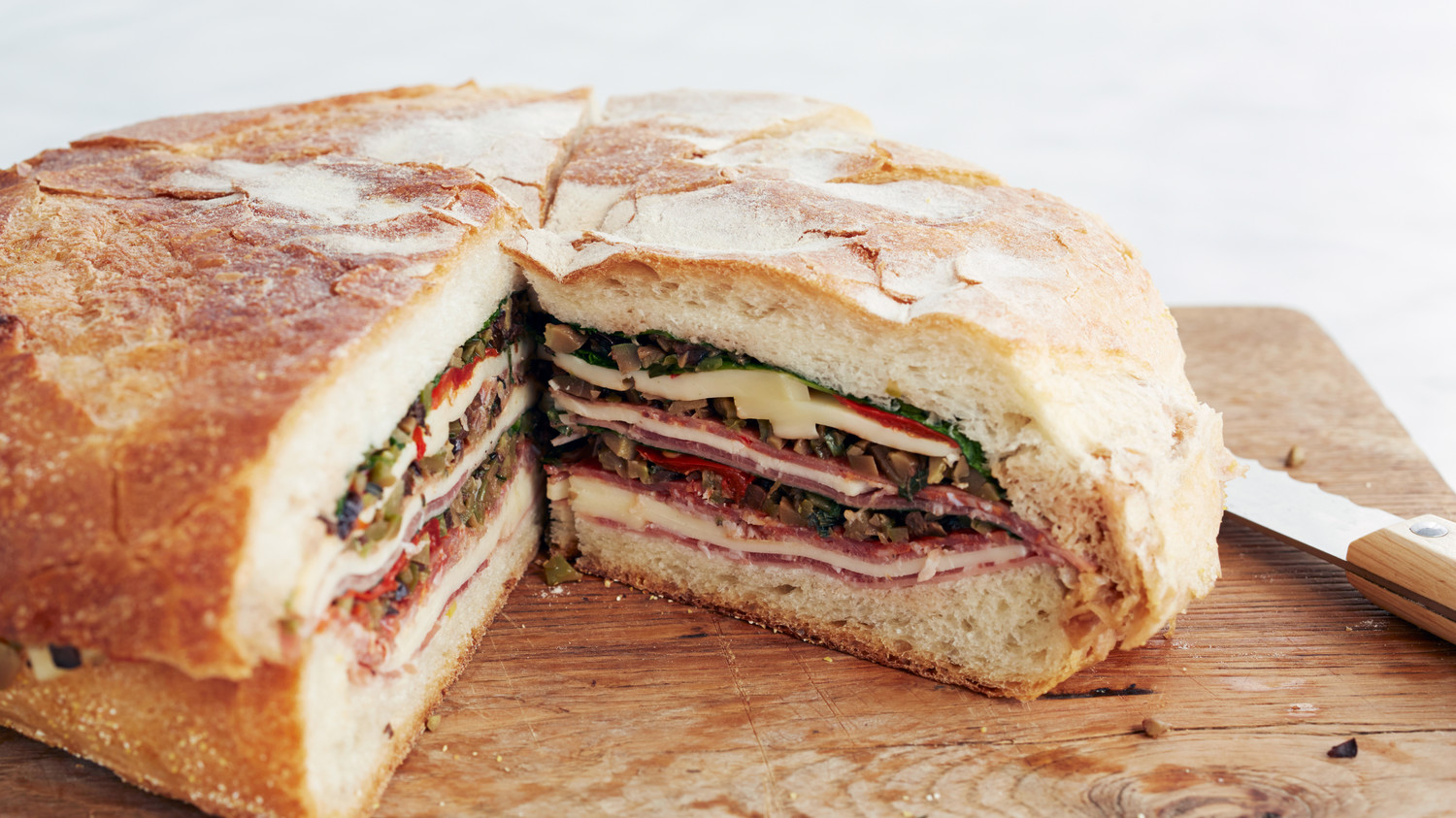 Muffaletta Recipe & Video | Martha Stewart