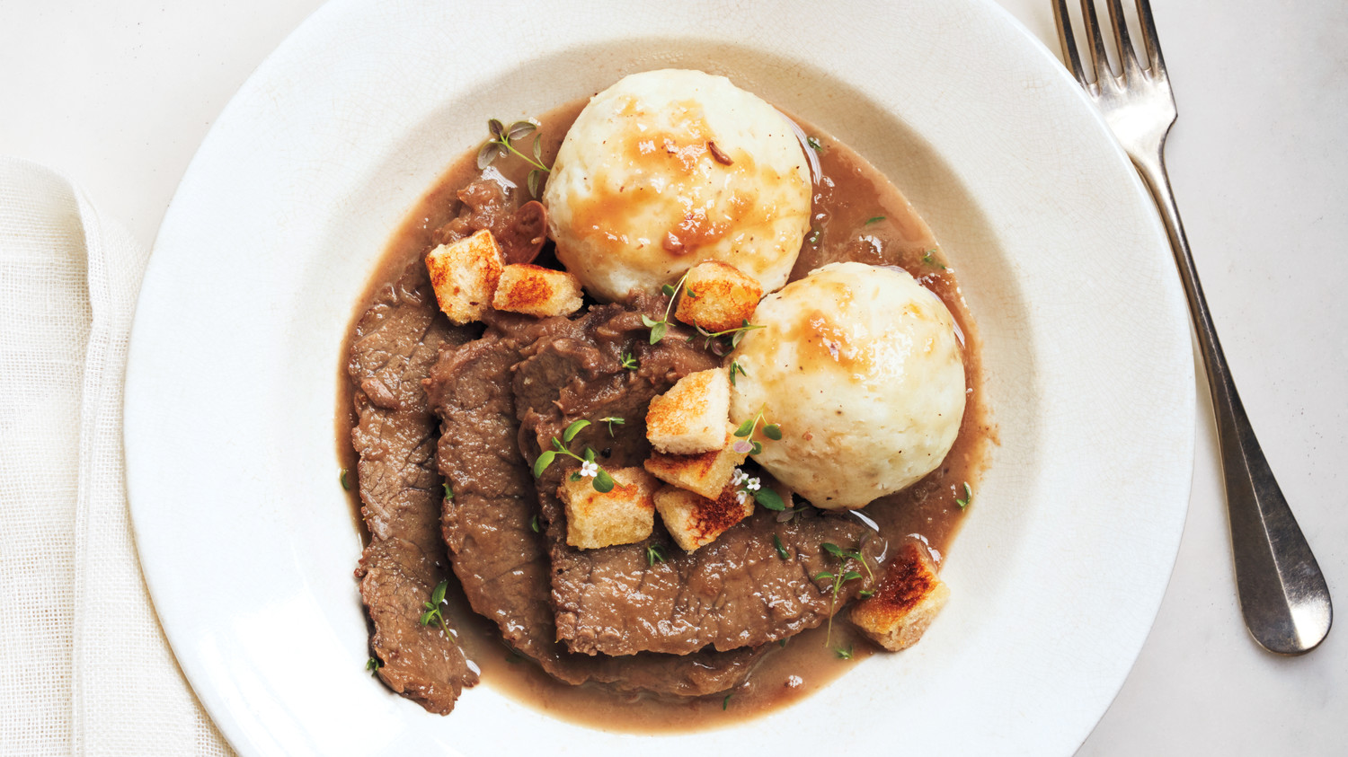 Sauerbraten With Potato Dumplings Recipe Martha Stewart