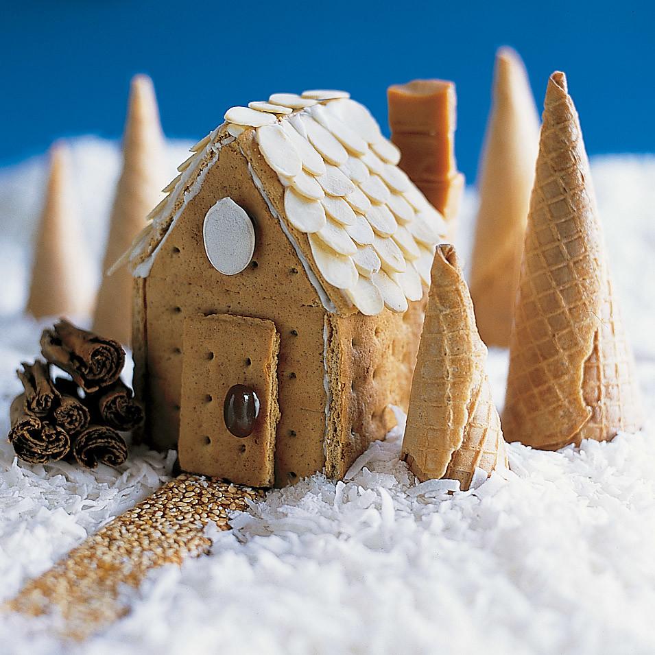 Как сделать пряничный домик из печенья