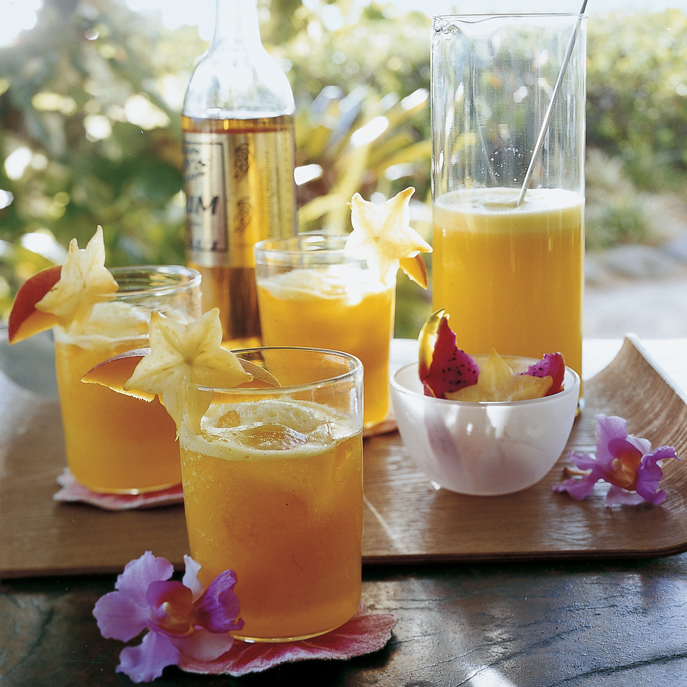 Pineapple and Mango Rum Cocktails Recipe | Martha Stewart
