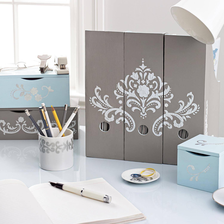 Flourish desk accessories martha stewart - Martha stewart desk organizers ...