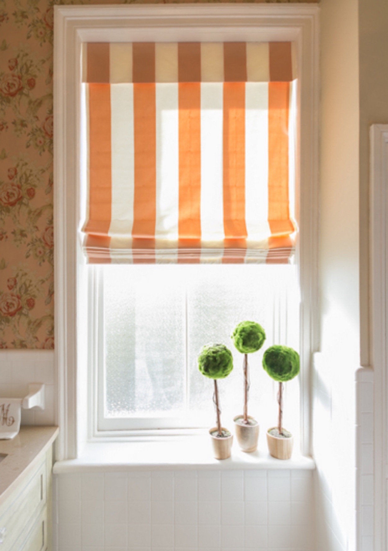 Fascinating 80 bathroom window dressing decorating for Blinds bathroom window