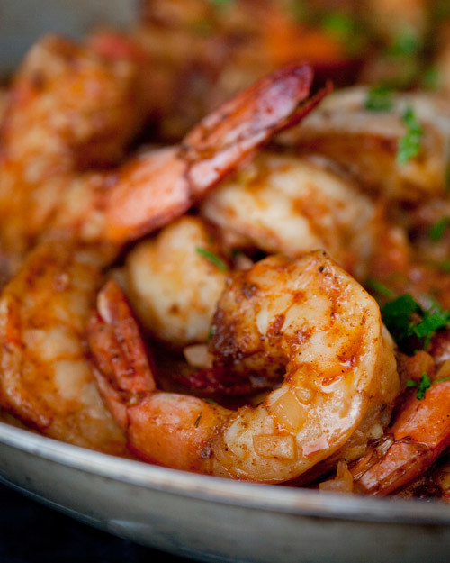 Smothered Shrimp and Andouille over Stone-Ground Grits Recipe | Martha ...