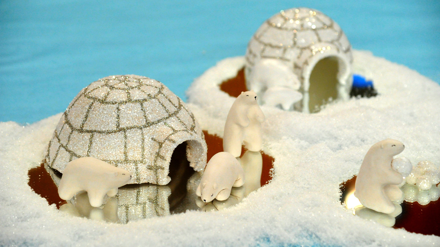 Clay Polar Bears and Igloo & Video | Martha Stewart