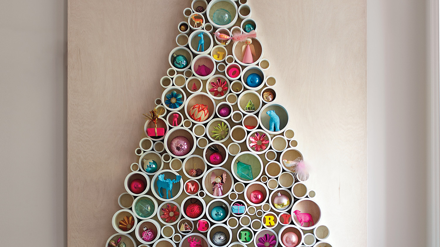 Wall Christmas Trees Christmas Trees Make It Sparkle Make It Your Own Martha Stewart