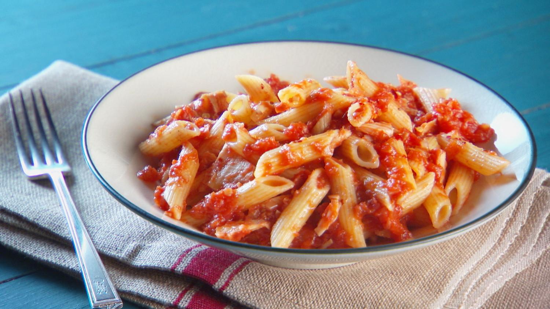 Tuna Tomato Pasta Recipe Amp Video Martha Stewart