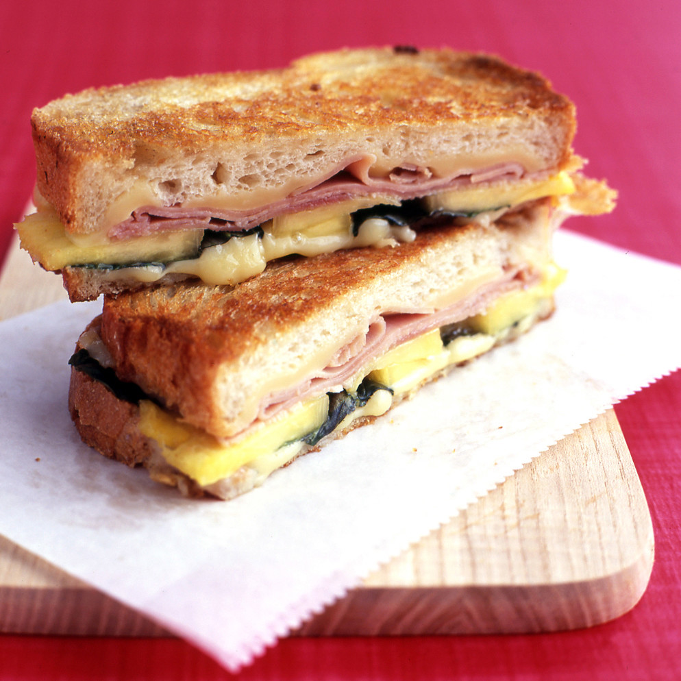 Grilled Ham And Cheese With Pineapple Recipe Martha Stewart