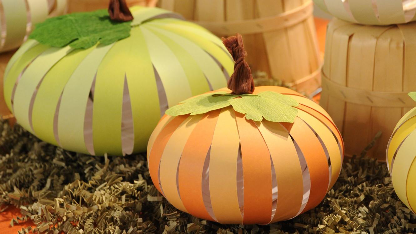 Paper Pumpkins amp Video Martha Stewart
