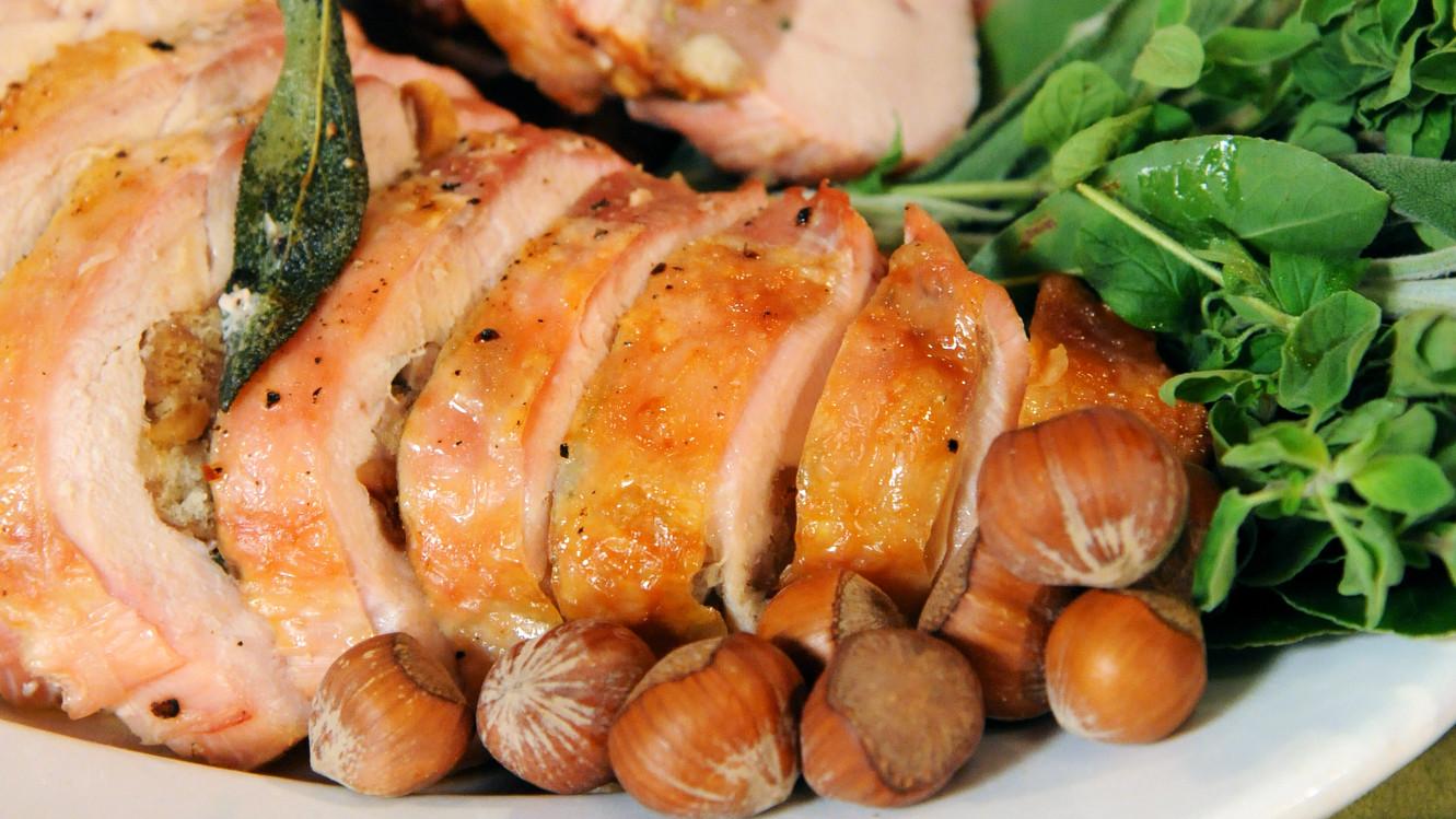 Sweet Sausage, Sage, and Hazelnut-Stuffed Turkey Breast Recipe & Video ...