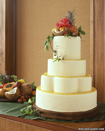 Cakes With Fruit Tropical Wedding Cake Martha Stewart