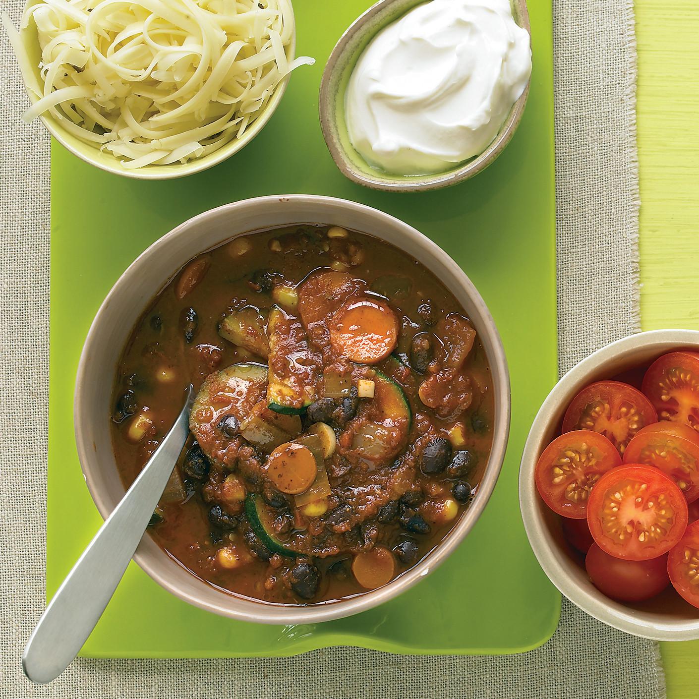 Vegetarian Black-Bean Chili Recipe | Martha Stewart