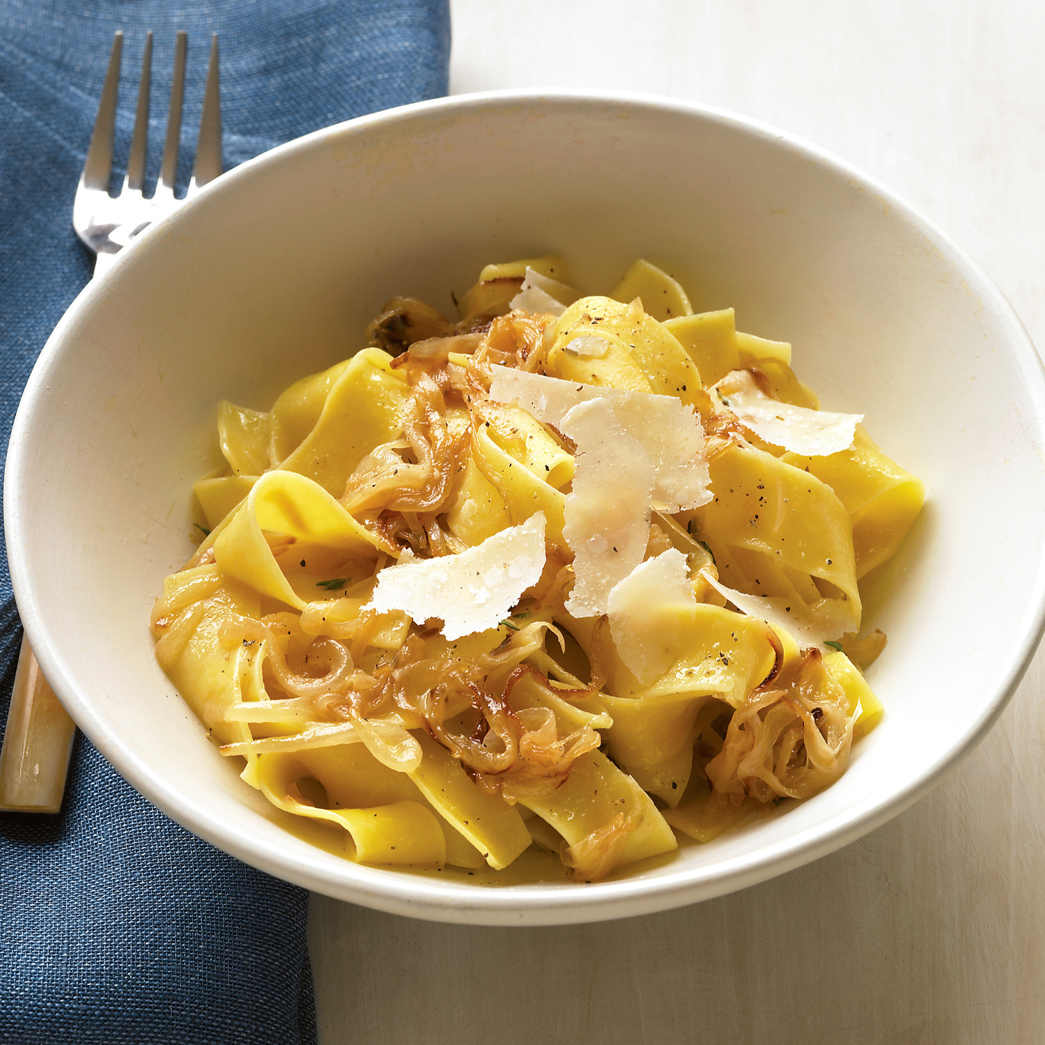 Pappardelle With Caramelized Onions And Parmesan Recipe Martha Stewart