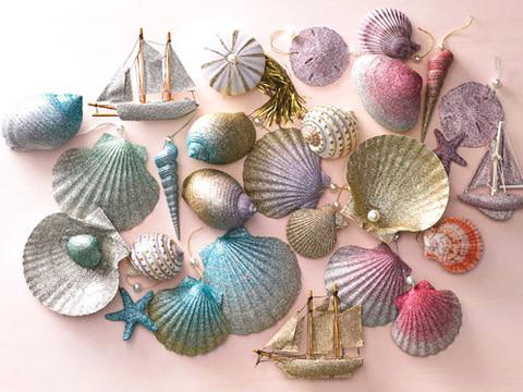 Ombre Glittered Seashell Ornaments Amp Video Martha Stewart