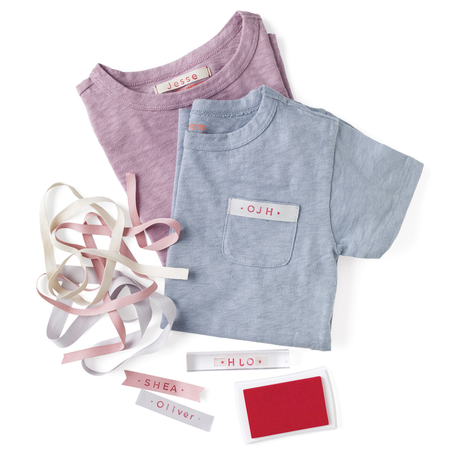 clothing name tags and monograms