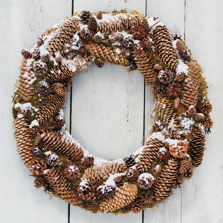 Frosted Pinecone Wreath Martha Stewart