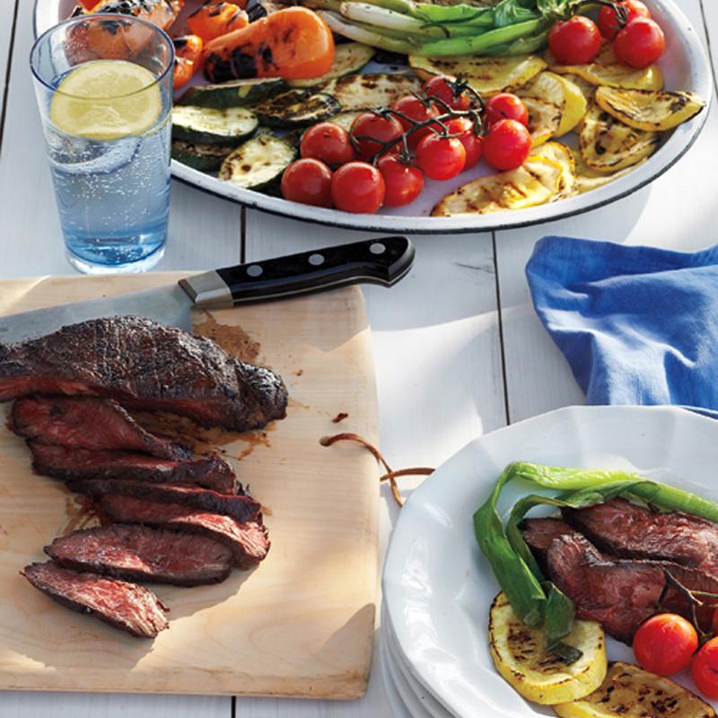 Grilled Steak and Summer Vegetable Salad Recipe | Martha Stewart