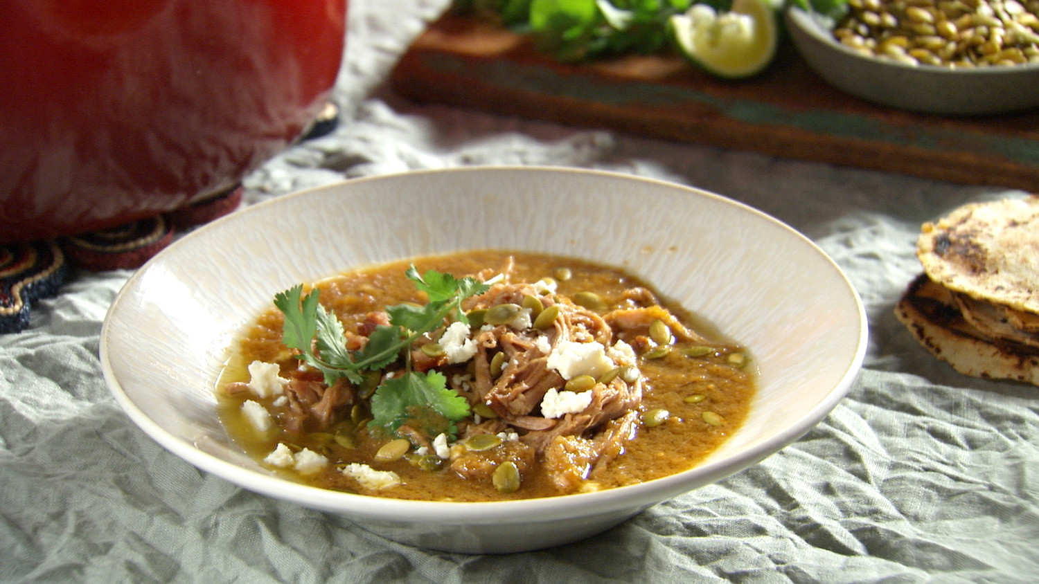 Recipe with tomatillos and pork