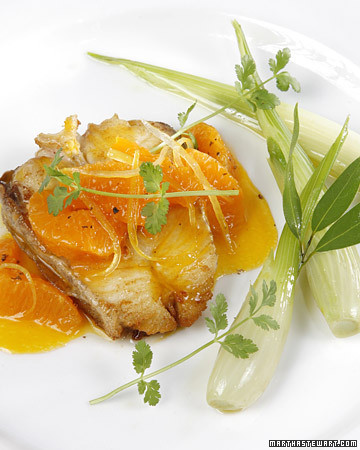Halibut with Citrus and Cilantro Recipe | Martha Stewart