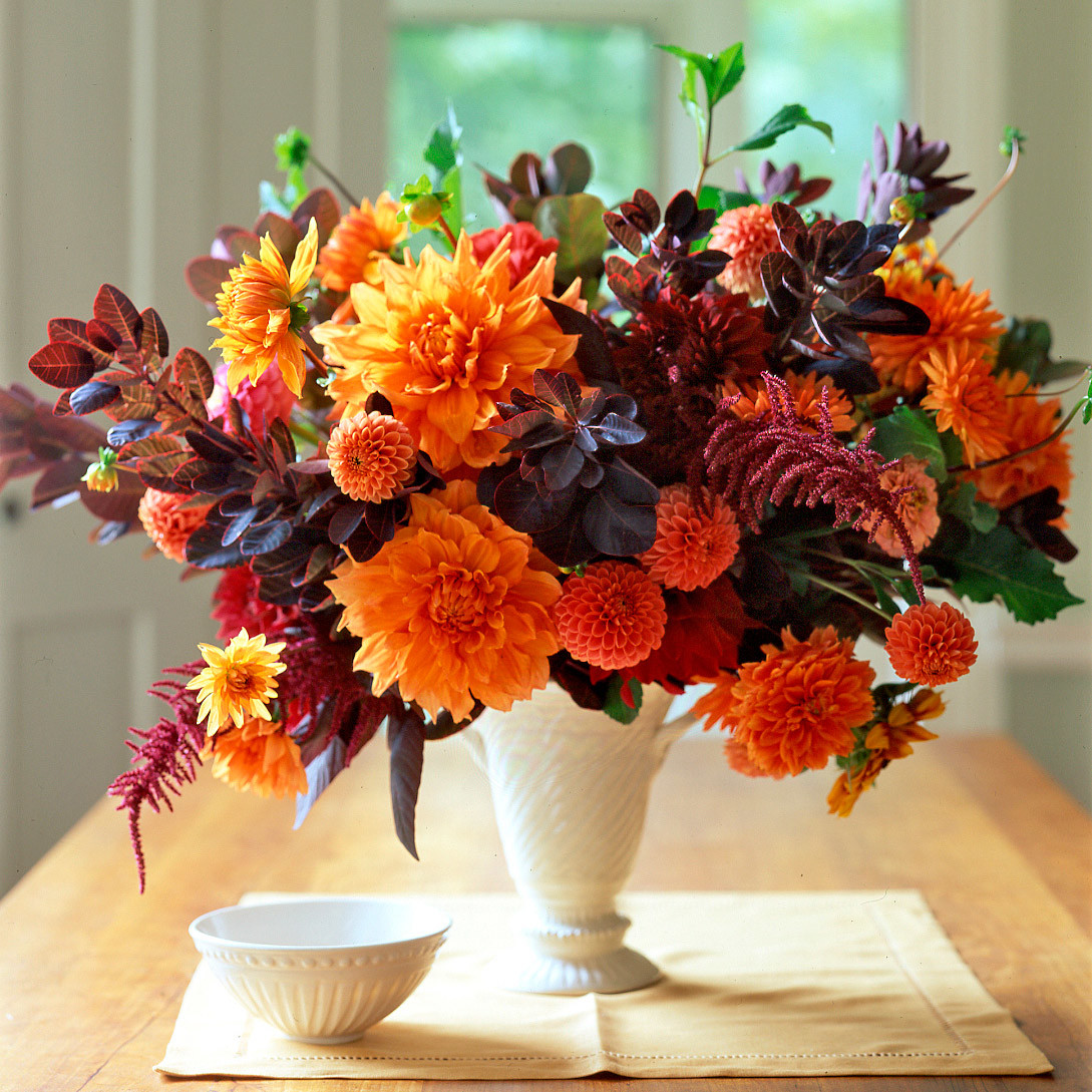 Orange flower arrangements martha stewart for A arrangement florist flowers