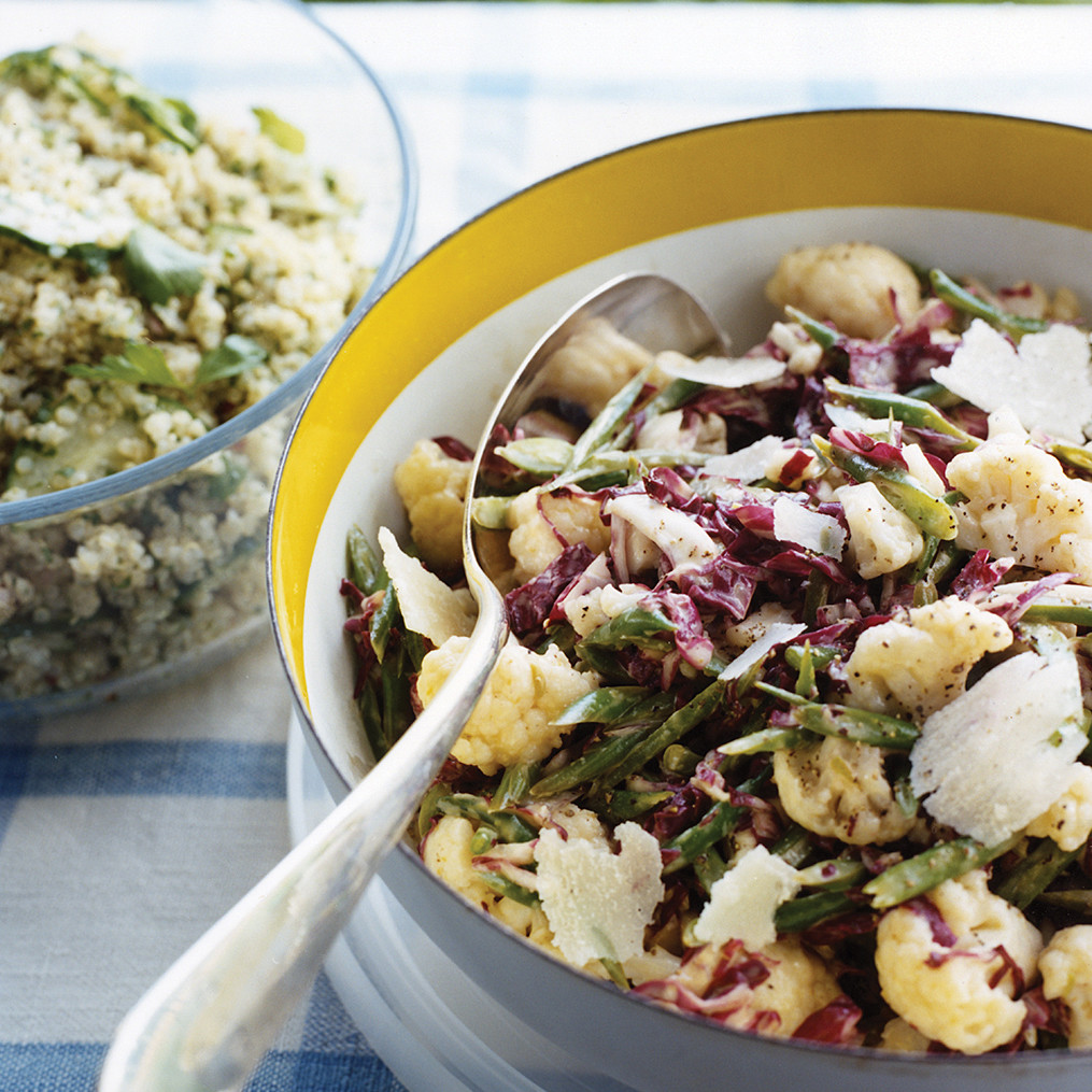 Radicchio Slaw with Green Beans and Cauliflower Recipe | Martha ...