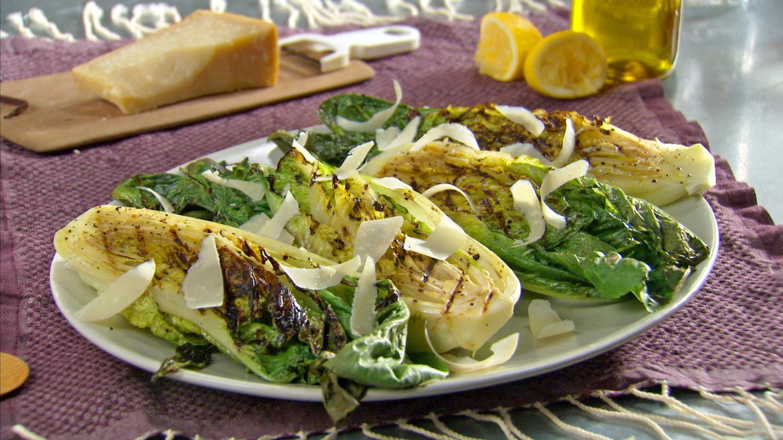 Grilled Simple Caesar Salad Recipe & Video | Martha Stewart