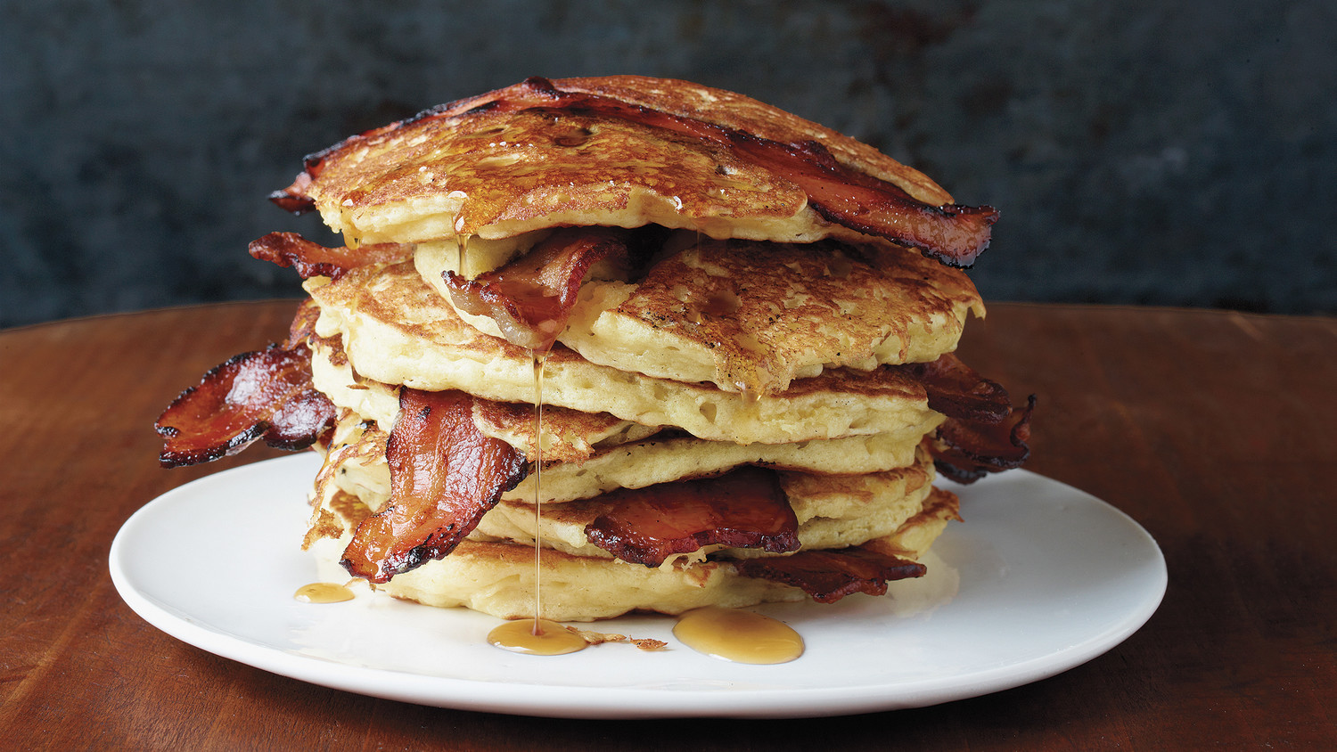 pancake and bacon breakfast - photo #11