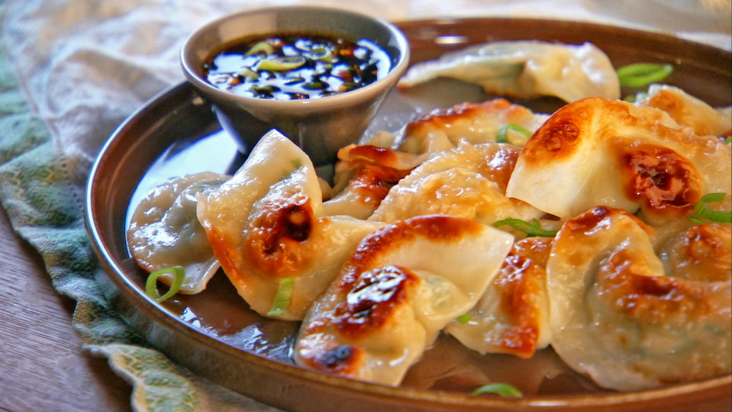 Pot Sticker Dumplings And Soy Vinegar Sauce Recipe Amp Video