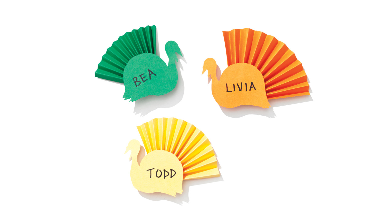 gobble  gobble  colorful turkey place cards