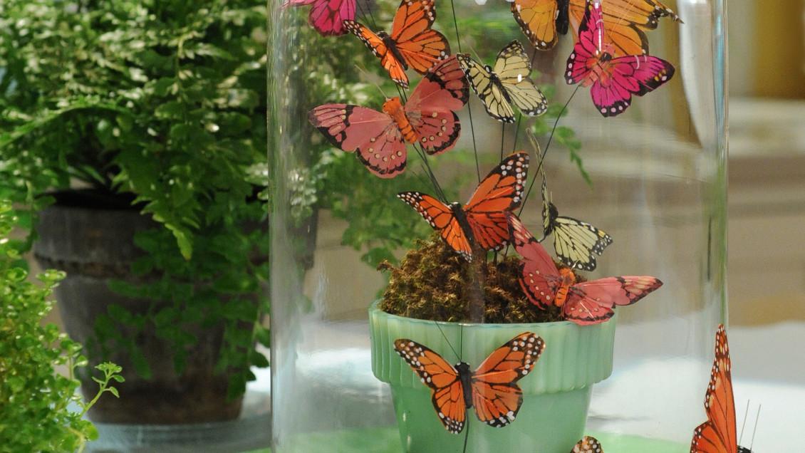 Butterfly centerpiece arrangement video martha stewart