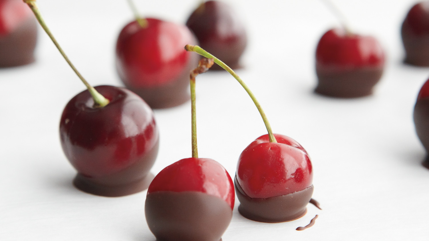 Dark Chocolate Dipped Cherries Recipe Amp Video Martha Stewart