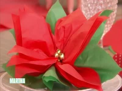 Video How To Make A Poinsettia Favor Martha Stewart