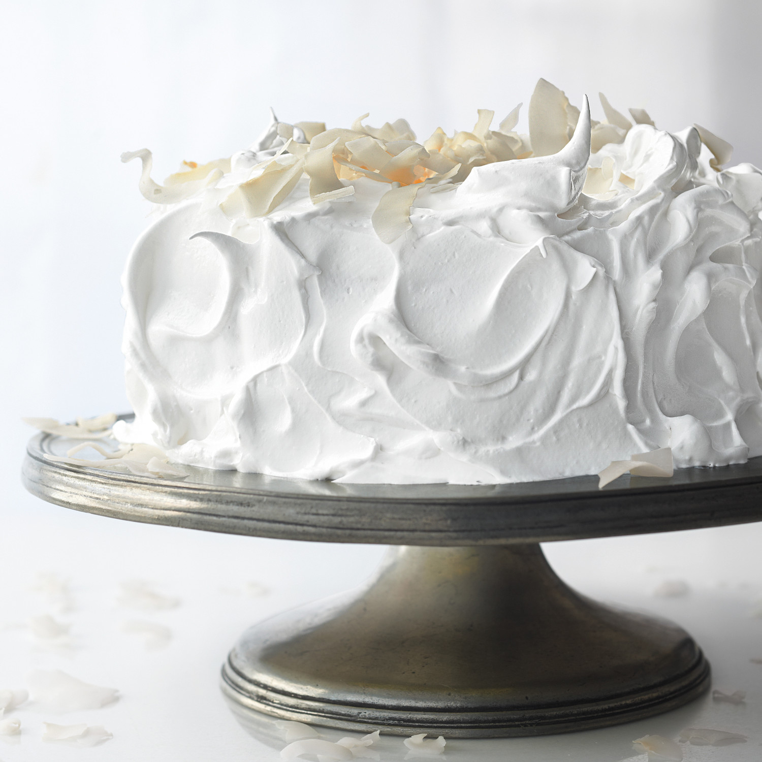 Meringue Frosting For Raspberry White Cake Recipe Martha