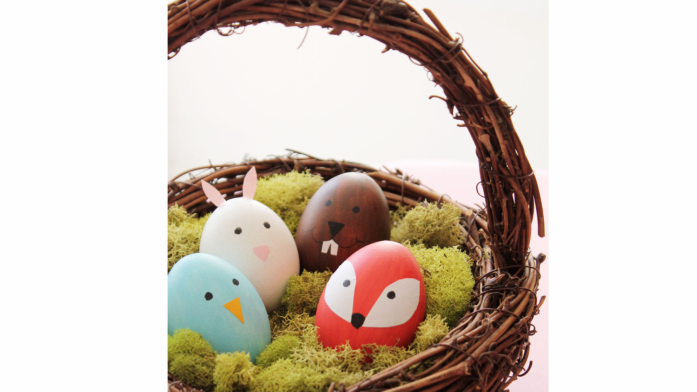 Cute Woodland Animal Easter Eggs Amp Video Martha Stewart