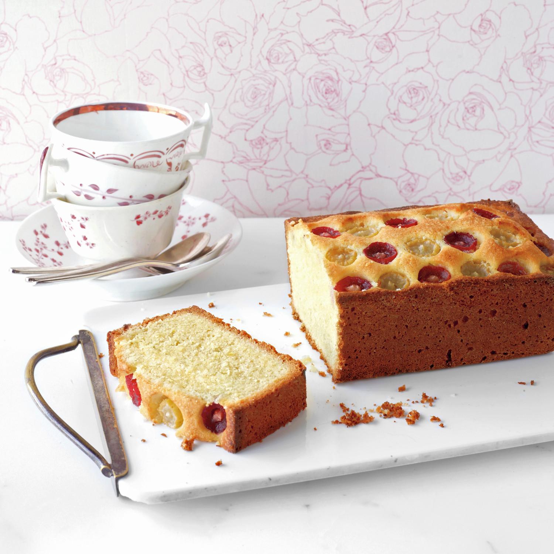Almond Grape Tea Cake