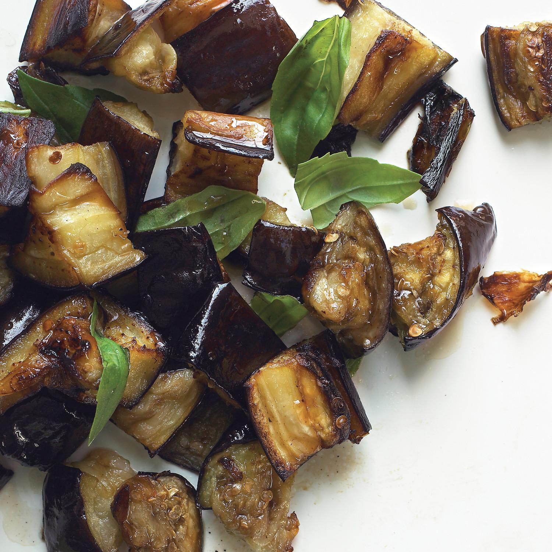 Roasted Eggplant With Basil