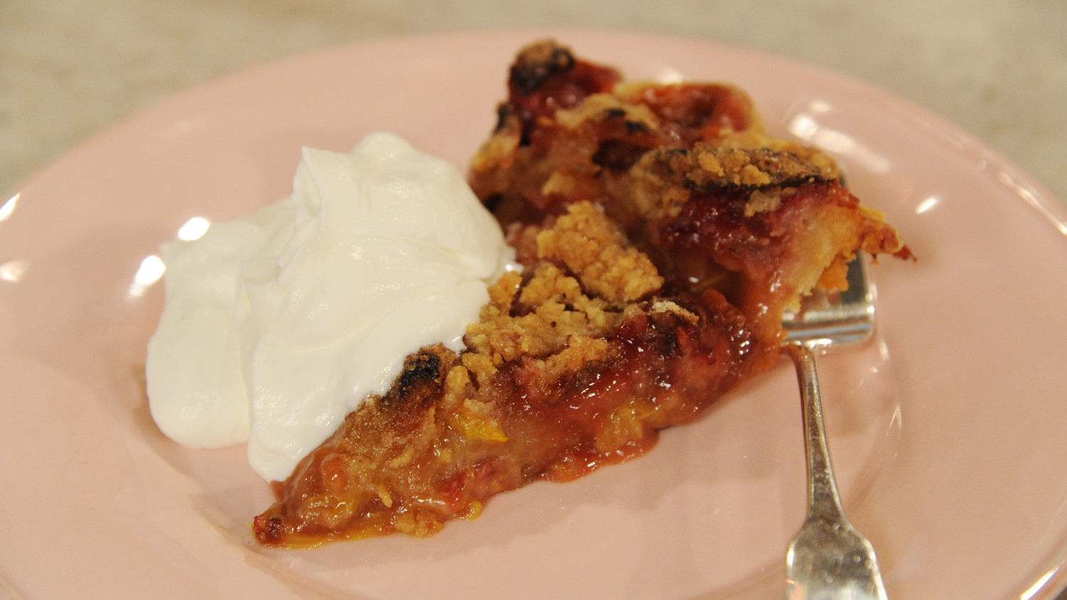 Strawberry Rhubarb Pie with Ginger Crumb Topping Recipe & Video ...