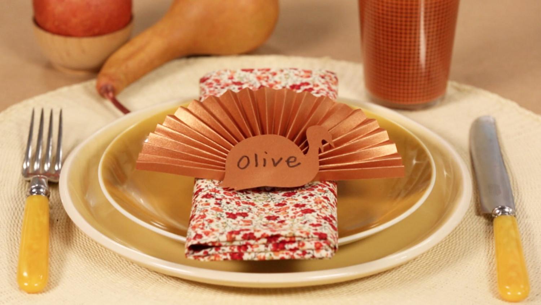 Video Thanksgiving Turkey Place Cards Martha Stewart