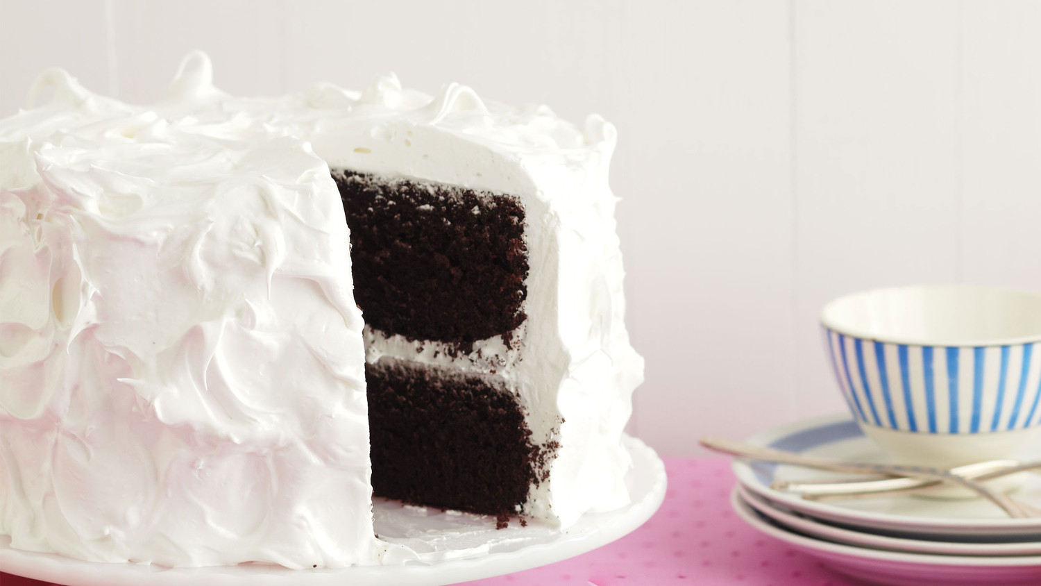 Devil S Food Cake With Fluffy Frosting