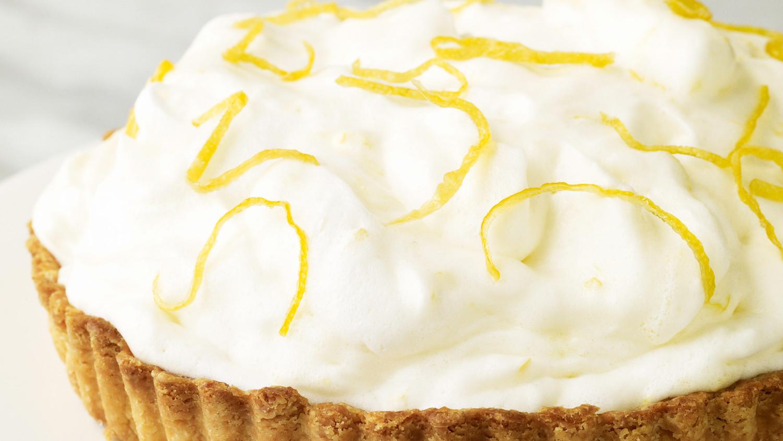 lemon mousse damask tart recipe video martha stewart. Black Bedroom Furniture Sets. Home Design Ideas