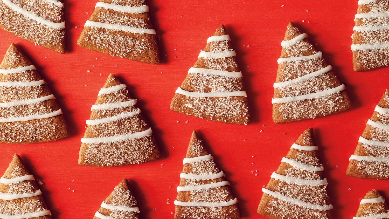 Gingerbread Trees with Lemon Icing Recipe | Martha Stewart