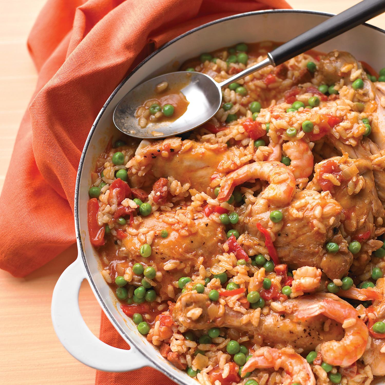 Chicken and Shrimp Paella Recipe | Martha Stewart