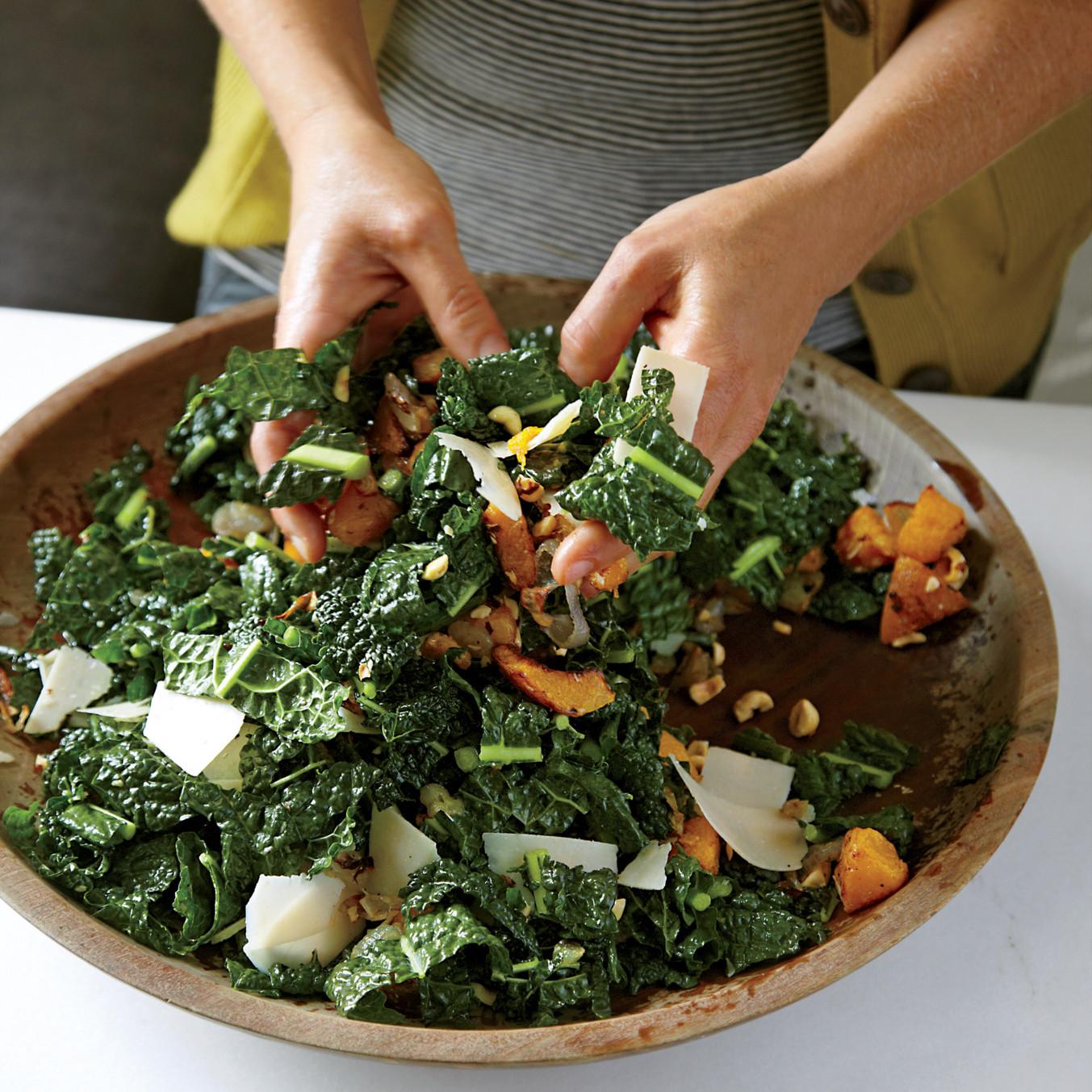 Lacinato Kale Salad With Roasted Squash Recipe Martha