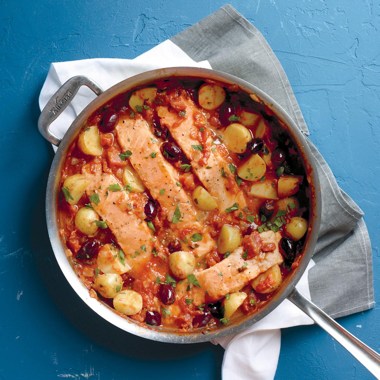 Salmon And Potatoes In Tomato Sauce Recipe Martha Stewart