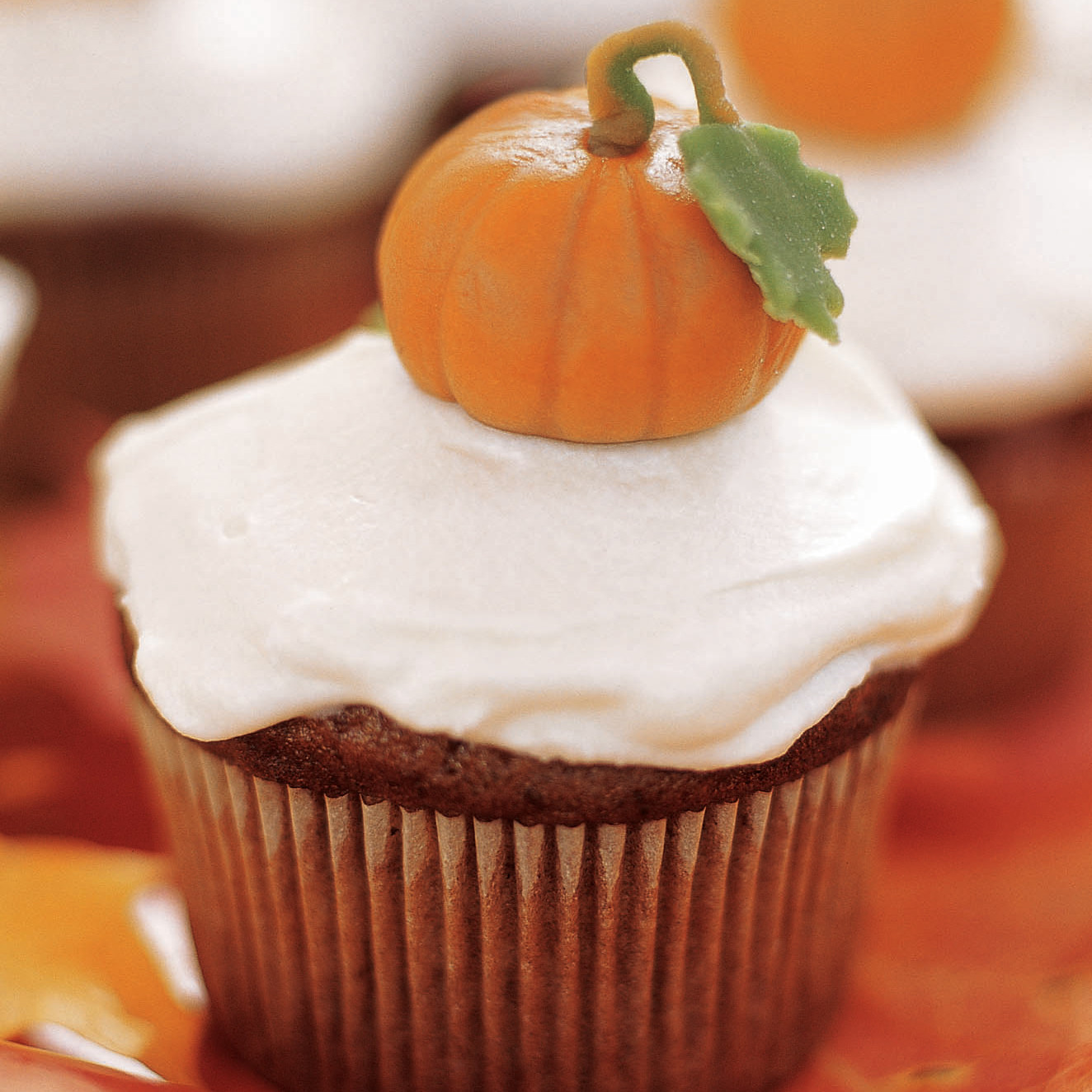 Pumpkin Cupcake Recipes pumpkin cupcakes recipe | martha stewart